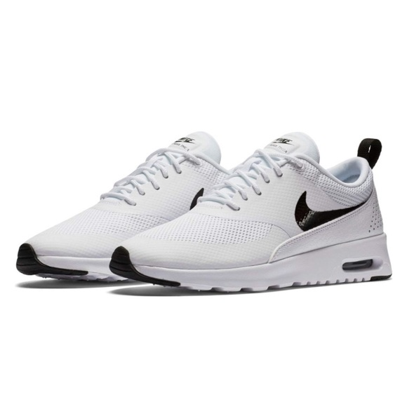 nike womens air max thea shoe white with black